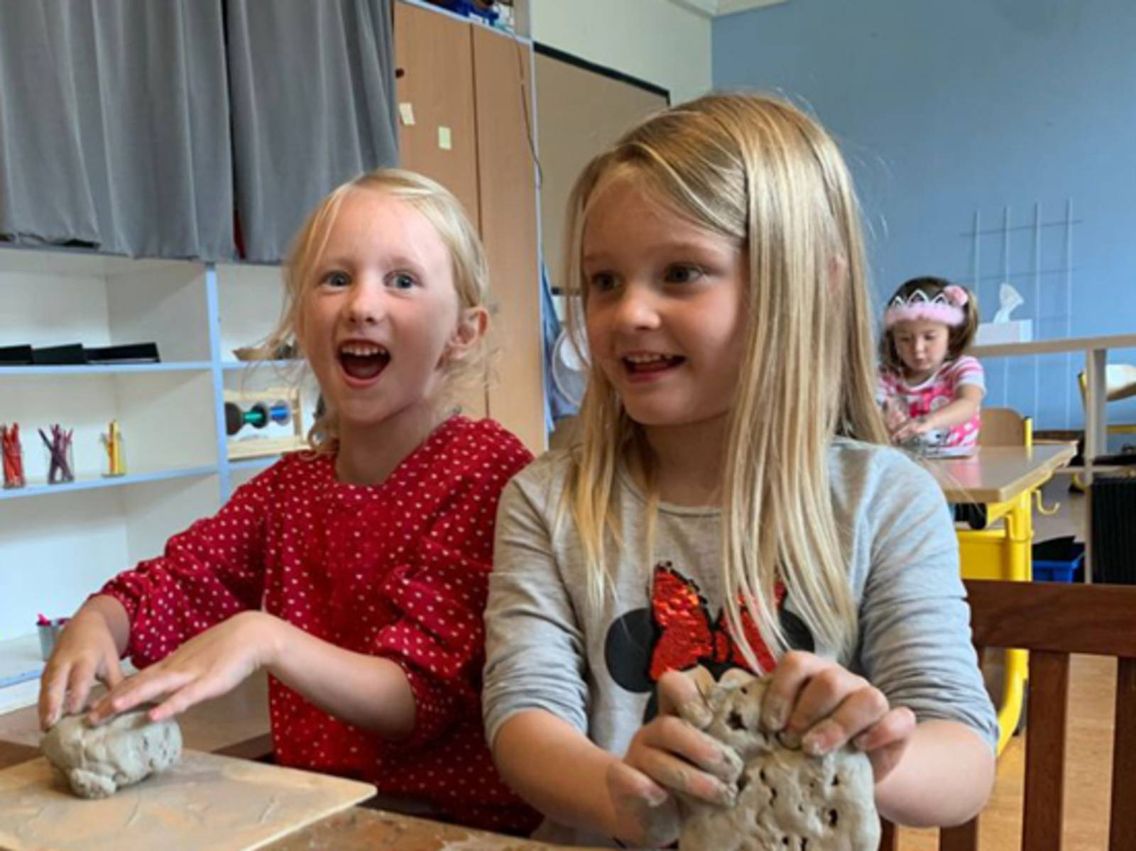 Kunstunterricht im Kindergarten der Internationalen Schule
