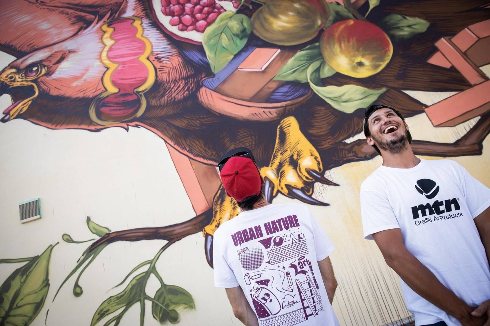 Streetart: Mural am Küchengarten in Linden