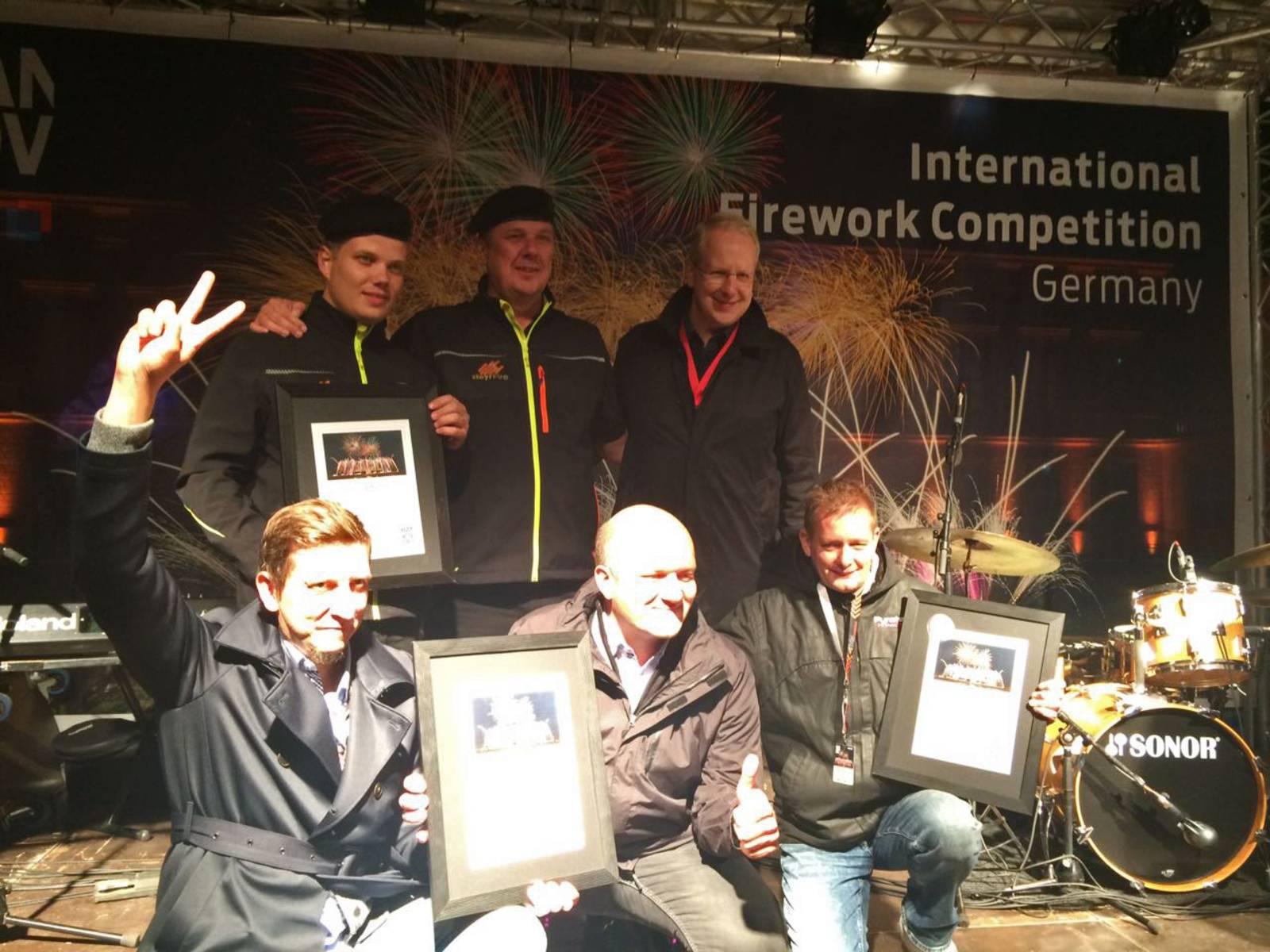Feuerwerkswettbewerb 2017 - Siegerehrung