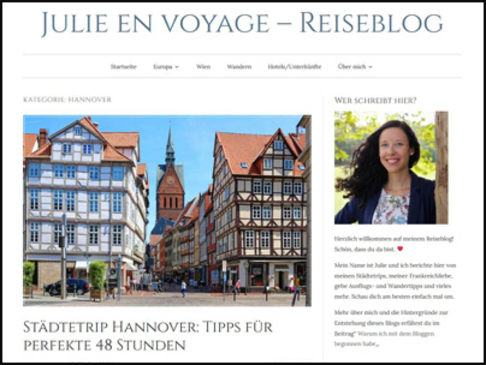Julie en Voyage