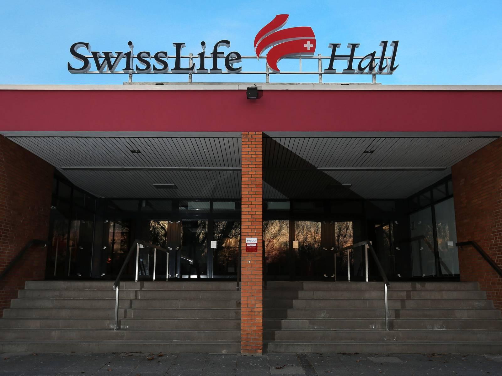Der Eingang der Swiss Life Hall.