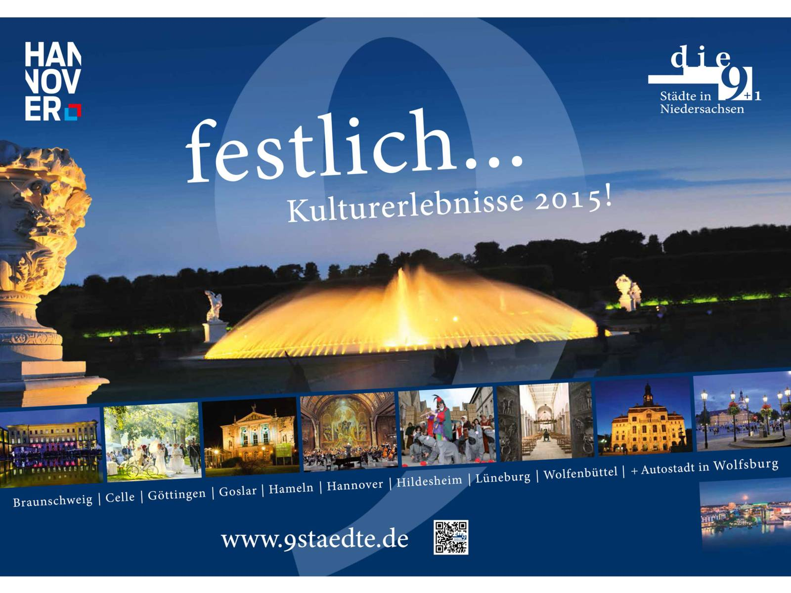 Plakatmotiv die_9 Städte in Niedersachsen