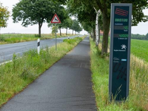Ein Radweg an einer Landstraße