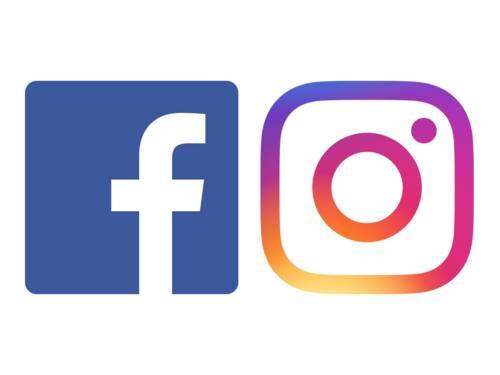 Logos von Facebook und Instagram