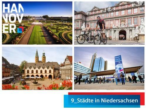 die 9_Städte in Niedersachsen