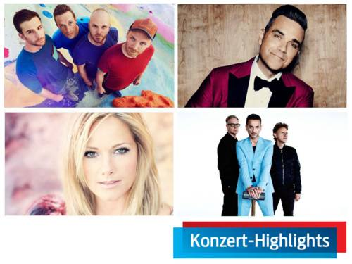 Coldplay / Robbie Williams / Helene Fischer / Depeche Mode