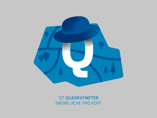 Q - 107 Quadratmeter Grünfläche pro Kopf