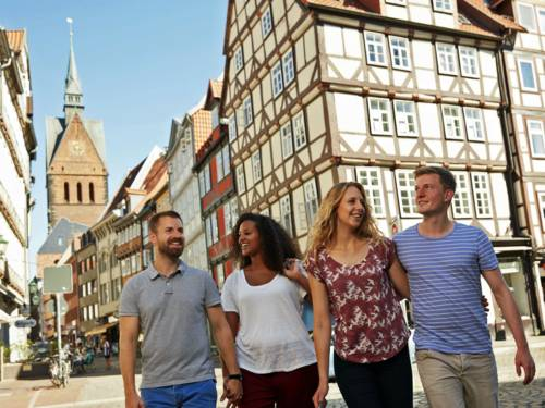 Gruppe in der Altstadt