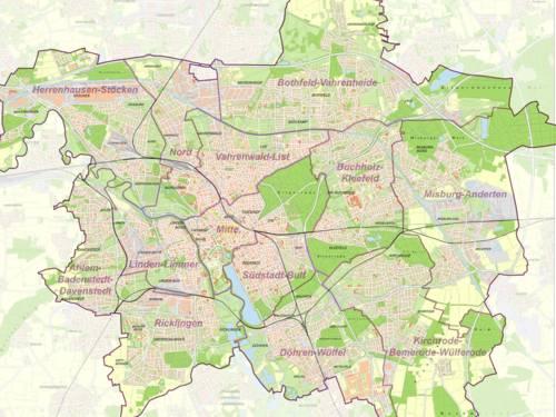Entdecke dein Hannover - Karte