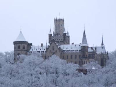 Die verschneite Marienburg