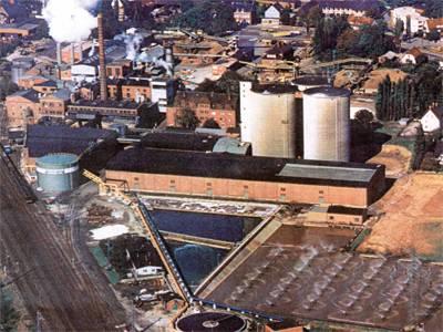 Luftaufnahme Zuckerfabrik Rethen