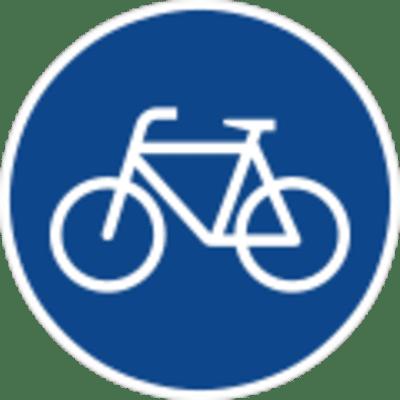 Schild: Radweg