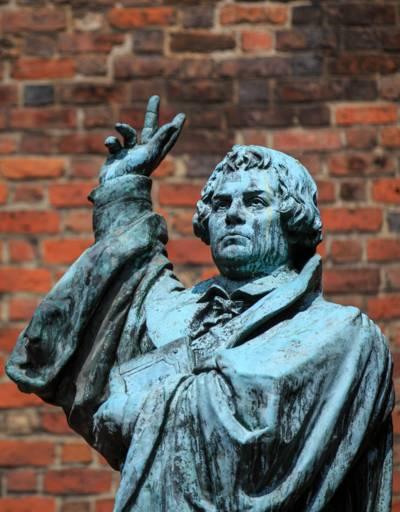 Martin Luther Statue vor der Marktkirche