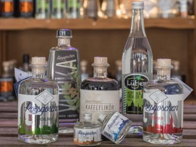 Gin-Auswahl bei Rossgoschen