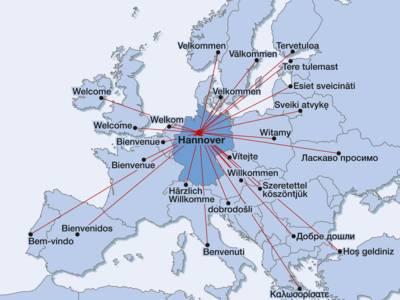 Hannover - in der Mitte Europas