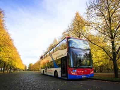 Doppeldecker Bus in Herrenhausen
