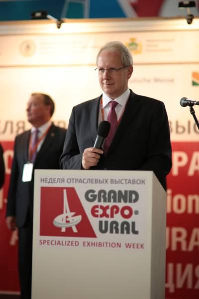 Oberbürgermeister Eröffnung Grand Expo Ural