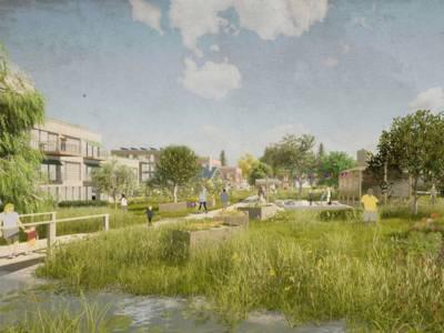 Visualisierung eines Wohnquartiers