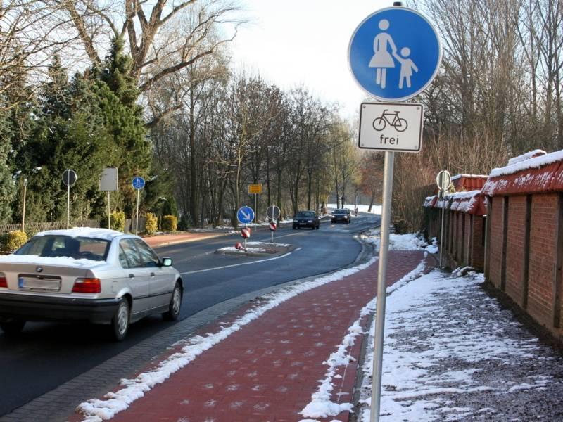 Gehweg mit Radverkehr frei