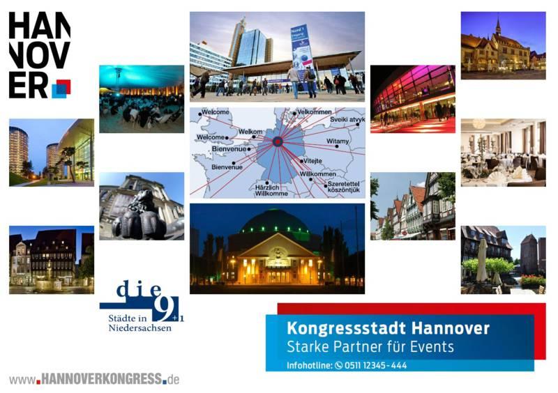 Kooperatin der 9 Städte in Niedersachsen und der Kongressstadt Hannover