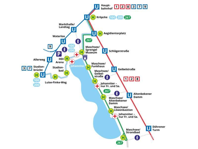 Maschseefest - Karte üstra