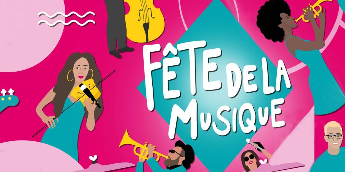 Veranstaltungsplakat Fête de la Musique 2021