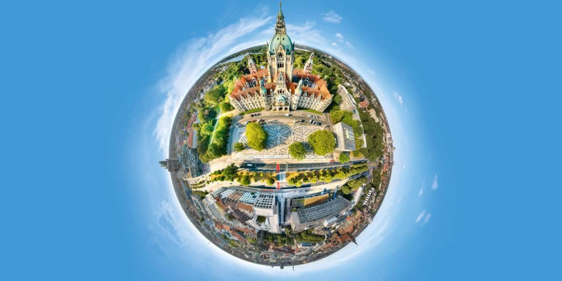 Die Stadt Hannover in 360°