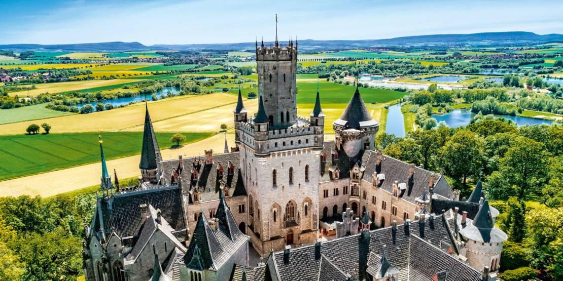 Lauftaufnahme Schloss Marienburg