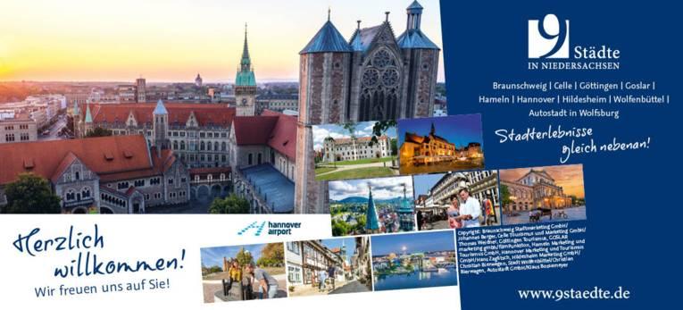 9 Städte in Niedersachsen
