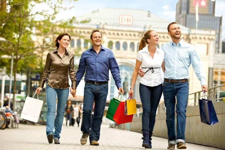 Shopping in der Bahnhofstraße