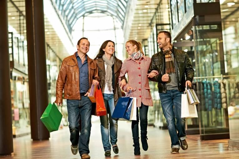 Shopping in der Galerie Luise
