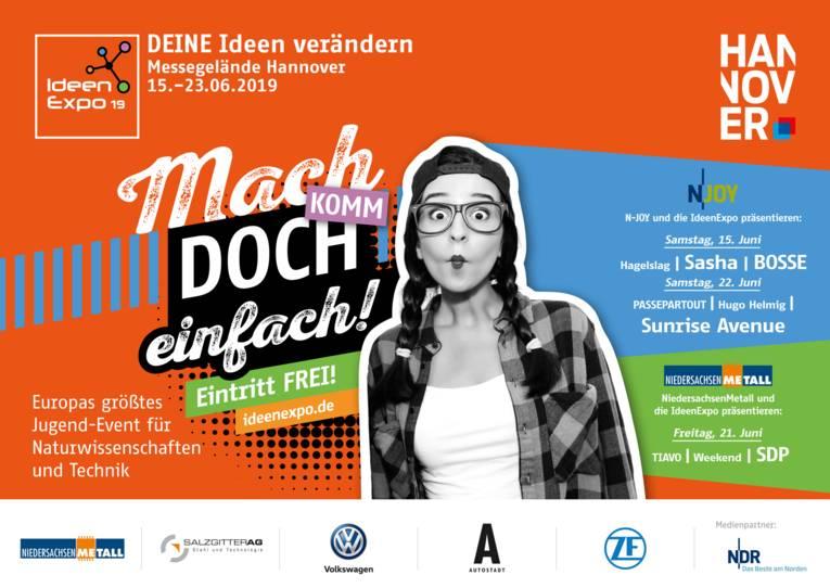 Plakatmotiv zur Ideenexpo 2019 in Hannover