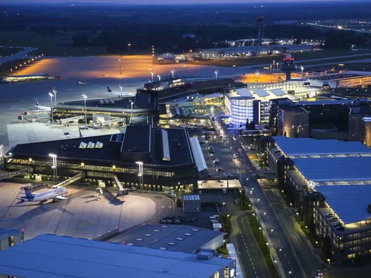 Luftaufnahme des Hannover Flughafen