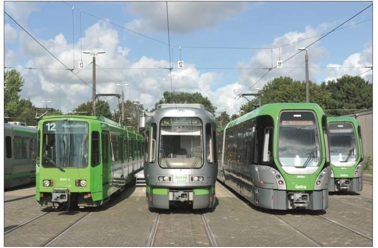 3 Stadtbahnen der üstra