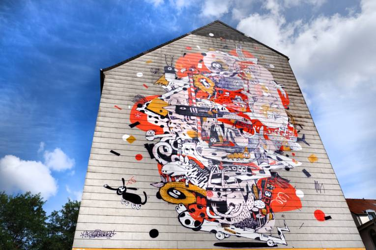 Graffiti in der Nedderfeldstraße