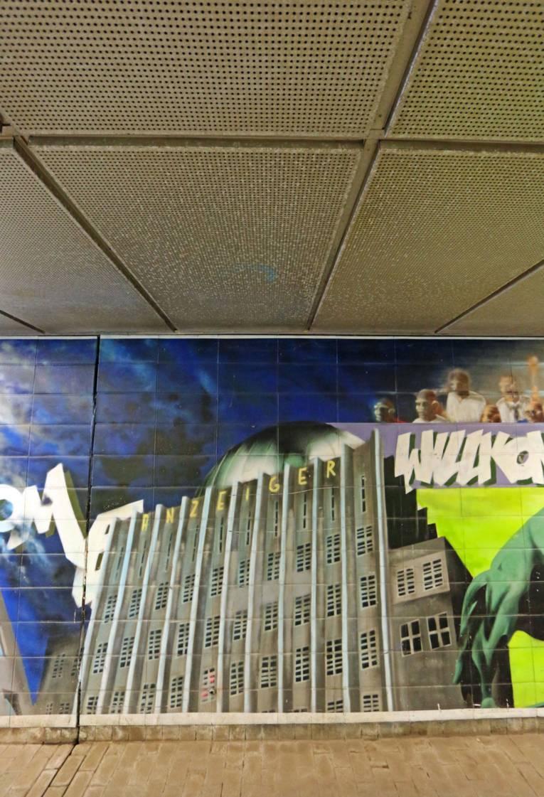 Graffiti im Waterloo-Tunnel - Anzeiger Hochhaus