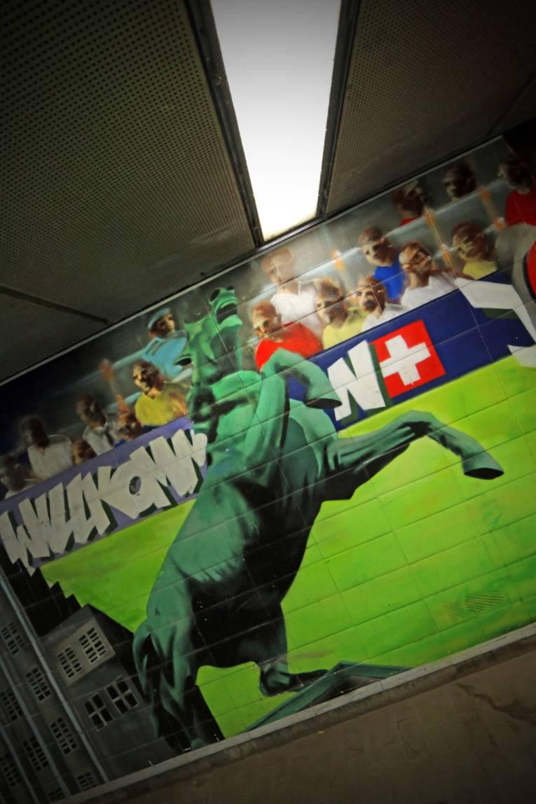 Graffiti im Waterloo-Tunnel - Sachsenross