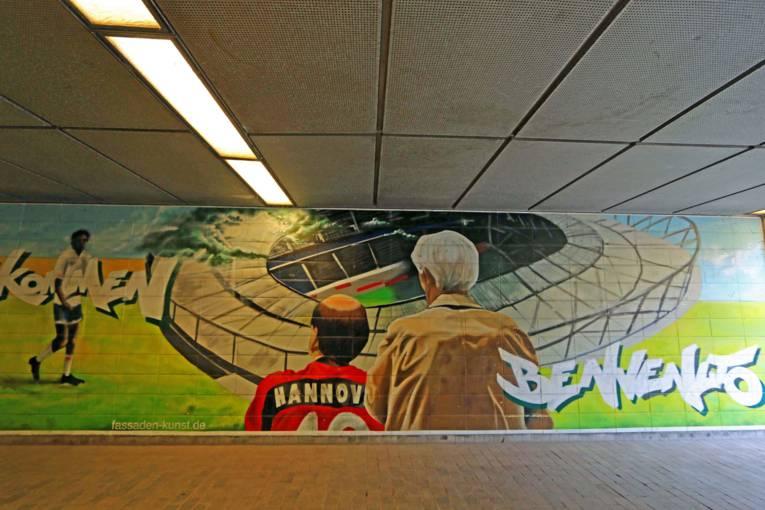 Graffiti im Waterloo-Tunnel