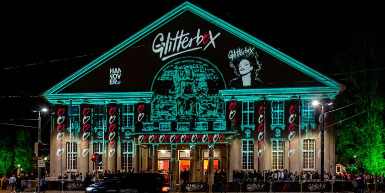 Eingang Glitterbox Oktober 2019