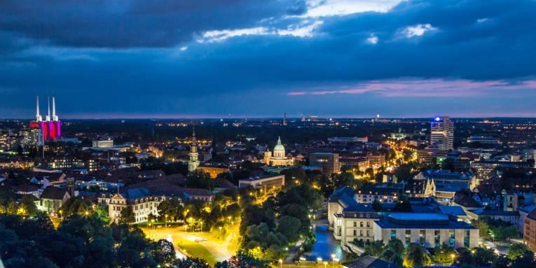 Nachtaufnahme von Hannover