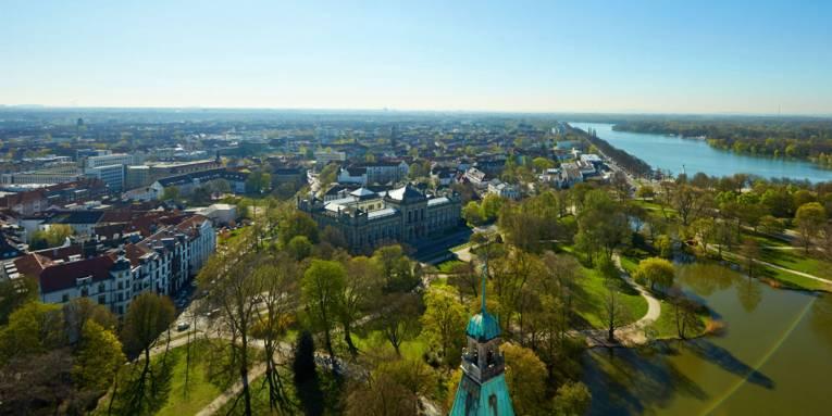 Blick von der Rathauskuppel