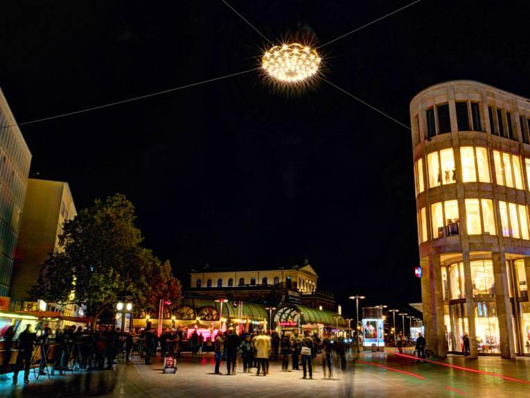 Lichtskulptur am Kröpcke