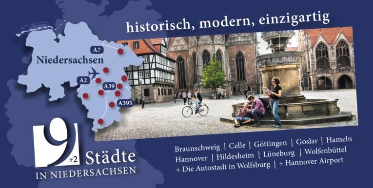 9 + 2 Städte in Niedersachsen