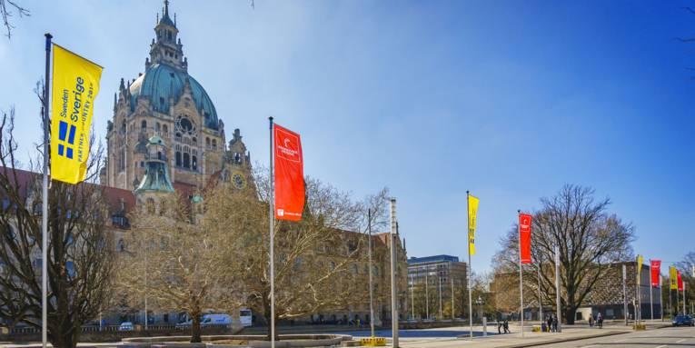 Flaggen in Hannover
