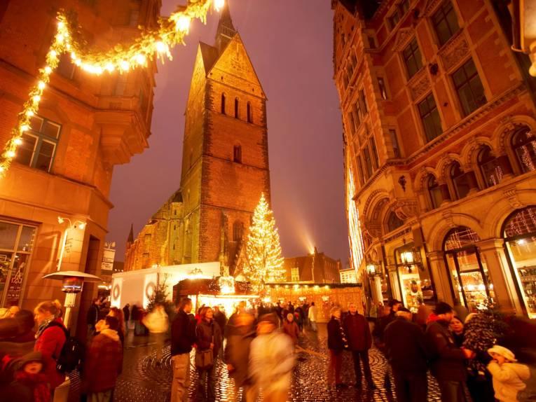 Kerstmarkt oude stad Kramerstrasse