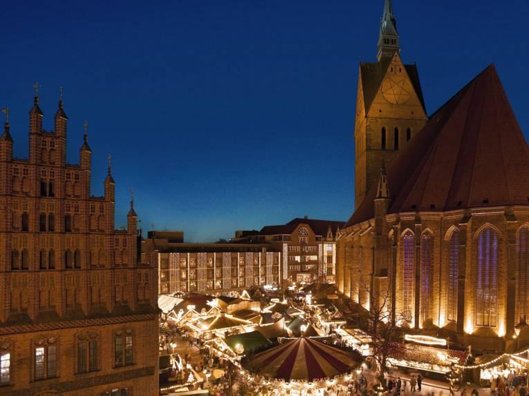 Weihnachtsmarkt in der Altstadt von Hannover
