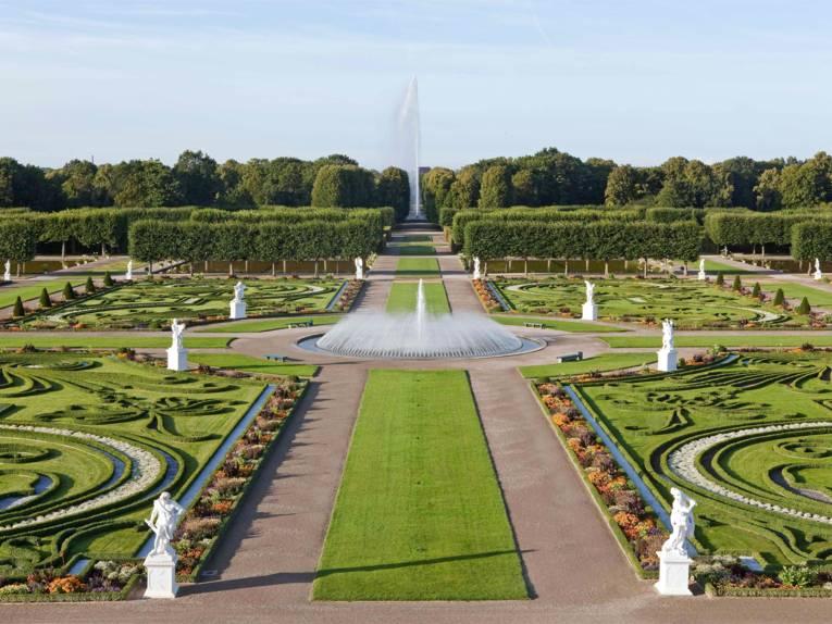 Das Parterre im Großen Garten