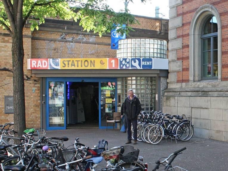 Eingangsbereich der Radstation 1 am HBF Hannover