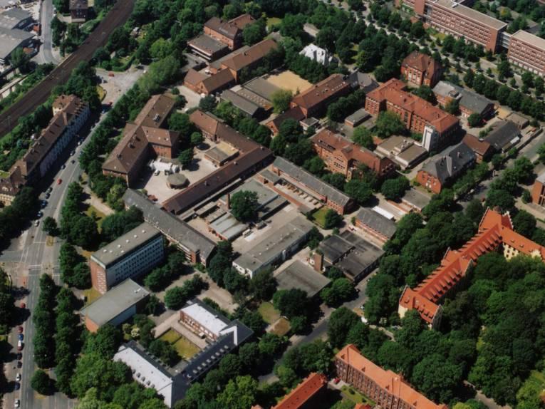 Luftbild von Gebäuden