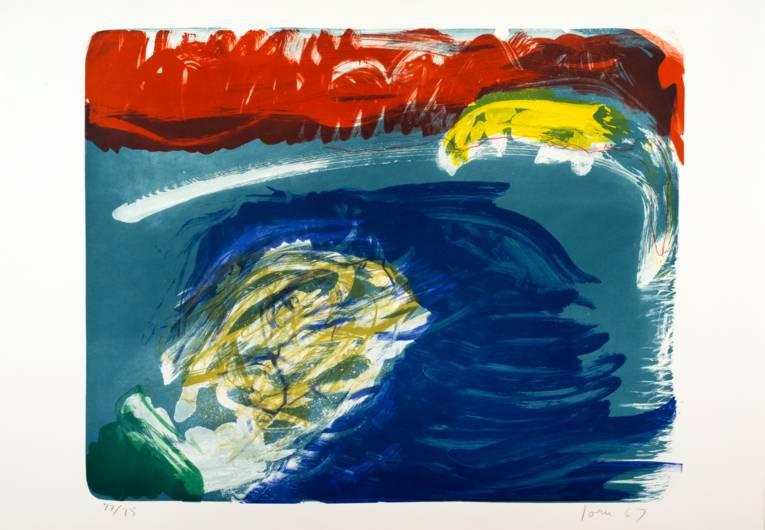 Asger Jorn (1914 – 1973), o.T. (WVZ 307), Lithographie in 6 Farben, 55,3 x 70,1 cm © VG Bild-Kunst, Bonn 2014